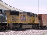 UP 3878 #5 power in a WB manifest at 1:07pm