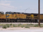 UP 9779 #3 power in a WB coal train at 12:49pm