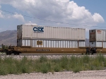 DTTX 727626 in a WB doublestack at 12:26pm (tied down)
