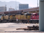 UP 9139 #3 power in an EB manifest (MTUHN -Tucson to Herrington, KS) at 1:27pm