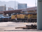 UP 9779 #4 power in an EB manifest (MTUHN -Tucson to Herrington, KS) at 1:27pm