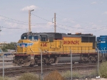 UP 4240 leads the light power from MEPHN (El Paso to Herrington, KS) at 4:15pm