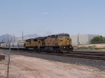 UP 6845 leads an EB grain train at 1:06pm
