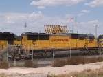 UP 4053 #4 power in  a WB doublestack (IDITI - Dallas - Terminal Island, CA) at 3:54pm