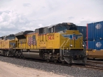 UP 8430 leads an EB doublestack at 2:38pm