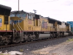 UP 5150 #2 power in a WB doublestack IMNLB Marion, AR - Long Beach, CA at 4:12pm