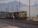 UP 9744 leads a switching group in MTUFW Tucson - Fort Worth, TX at 4:47pm