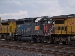 UP 1418 #4 power in a switching group in MTUFW Tucson - Fort Worth, TX at 4:47pm