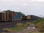UP 7673 leads a WB doublestack at 4:49pm