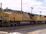 UP 5539 #2 power in a WB doublestack (IMLBB) at 11:57am