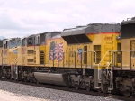 UP 8392 #2 power in an EB doublestack at 1:06pm
