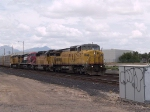 UP 9475 leads an EB doublestack at 1:11pm