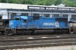 2576 Ex Conrail leading NS WB freight