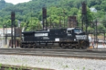 NS 9306 sitting by the Fuel and sand stations