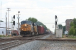 Westbound tonnage rolls through on an overcast afternoon