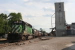 One unit wonder comes off the eastbound B&O and heads north for Toledo