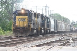 Eastbound tonnage rolls through town at the Columbus Ave crossing