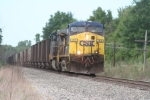 Doing every bit of 50, a westbound on the C&O approaches town