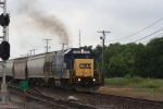 CSX local crew departs the yard on their daily rounds. the real treat is on the end....