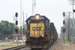 With one train in the background, westbound tonnage rolls through on track 2