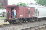 The CSX local job uses this caboose, complete with a homemade E-L herald!