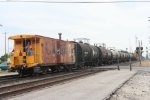 The local crew that switches the area still employs a caboose, a welcome sight these days