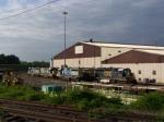CSX 4447 on an overcast day