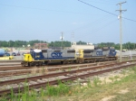 CSX 2767 and 7760 Head out from Shops