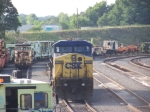 CSX 7760 and a bunch of MOW Equipment