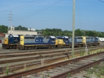CSX 6249 and 4 other GP-40-2 locomotives