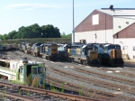 A Bunch of Locomotives at the Shop