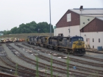 Line of Locomotives