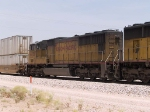 UP 4475 #4 power in an EB doublestack at 12:30pm