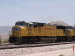 UP 4651 leads a WB doublestack at 1:11pm