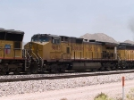 UP 9603 #3 power in a WB doublestack at 1:11pm