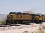 UP 9773 leads a WB doublestack at 1:31pm
