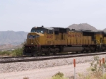 UP 4645 leads a bare table train at 12:22pm