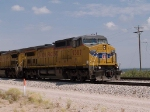 UP 9387 leads an EB manifest at 11:05am