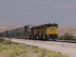 UP 8470 leads an EB doublestack at 11:18am
