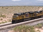 UP 8418 leads a WB doublestack at 12:43pm