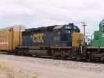 CSX 8236 #6 power in ILBEW EB at 11:26am