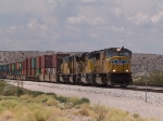 UP 4286 leads an EB doublestack at 1:59pm