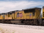UP 3919 #4 power in an EB doublestack at 1:59pm