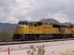 UP 4325 leads a WB doublestack at 2:29pm