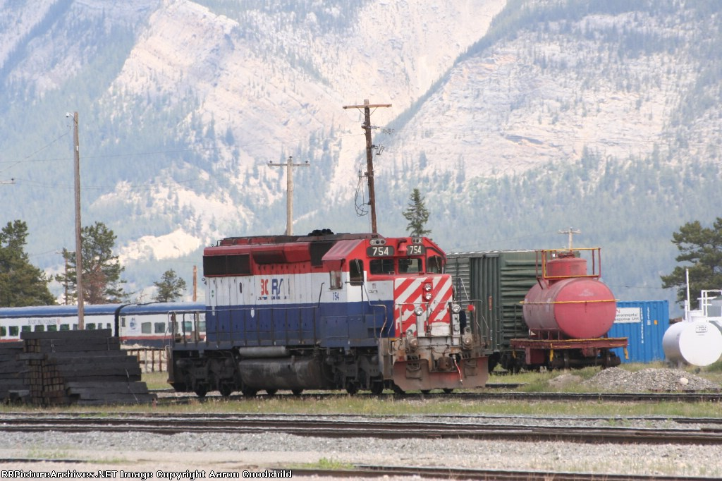BCOL 754 sits in Jasper Yard