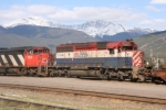 BCOL 750 leaving Jasper Yard
