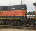 """BNSF 2249 """"cab"""" detail"""