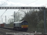66419 on hire to Freightliner working 4E24 Thamesport - Leeds Stourton.
