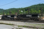 NS power pulled from a WB coal train heading for inspection