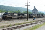 WB coal trains waiting for crews